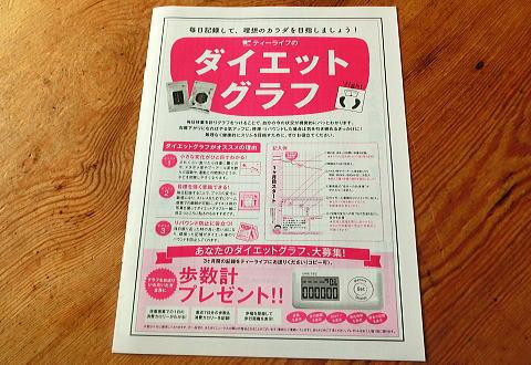 公式サイトでダイエットプーアール茶お試しセットを購入すると↓↓↓↓ダイエットグラフがついてくる。
