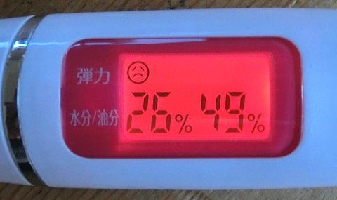 tp200を飲む前の肌チェッカーの数値