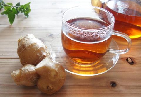 体が温まる生姜紅茶